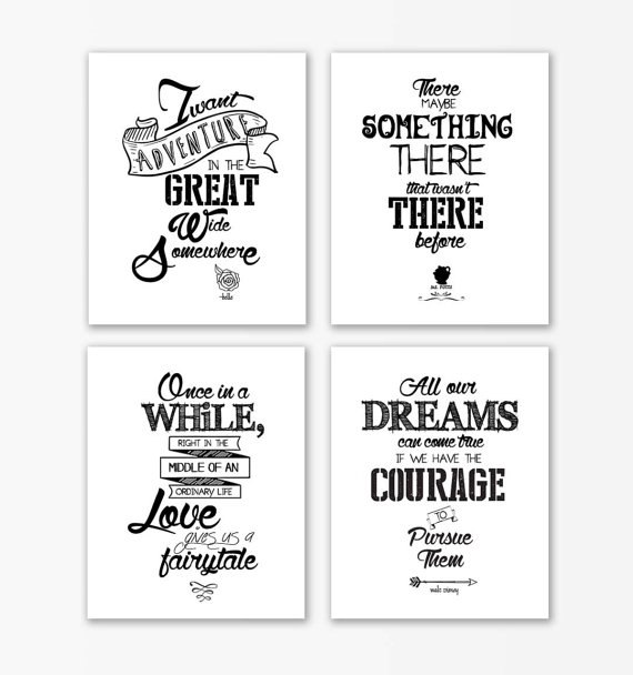 Drawn quote prettiness Beauty gifts  the beast