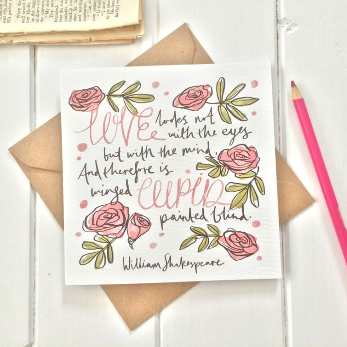 Drawn quote shakespeare Card