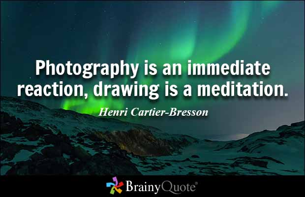 Drawn quote sketch Drawing immediate Bresson a meditation