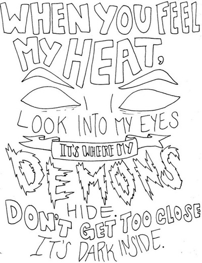 Drawn quote song lyric Drawings Google LyricsDemonsBook tumblr Search