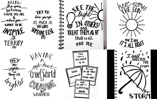 Drawn quote song lyric Quote of phrase  £5