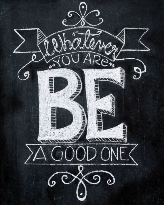 Drawn quote special one Hand Lettering Chalkboard drawn 8x10