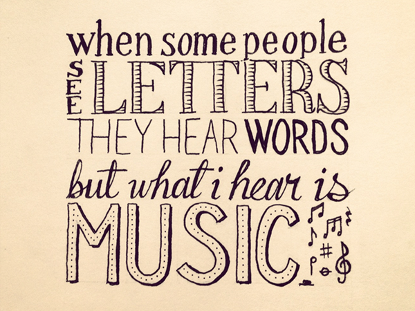 Drawn quote typography Letters Words quotes See Hear