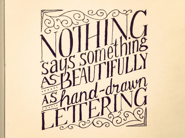 """Drawn quote typography Hand """" Says Quotes as"""