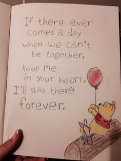 Drawn quote winnie the pooh If ever one it's