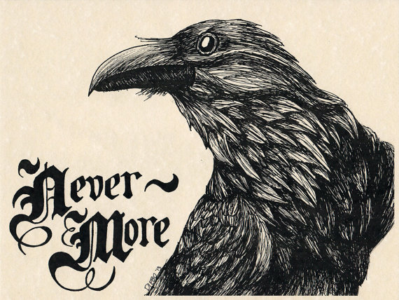 Drawn quoth Of on Nevermore PRINT of