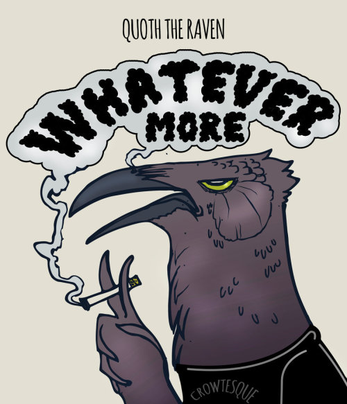 Quoth clipart funny Nevermore crowtesque art Tumblr