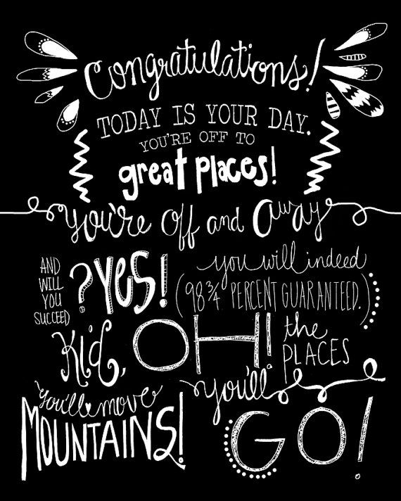 Drawn quote dr seuss Go graphic Seuss wall quote