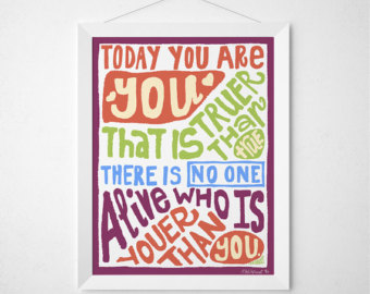 Drawn quote dr seuss Dr Drawn Poster Dr Etsy