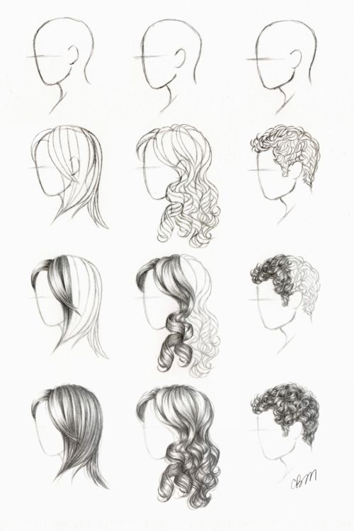 Drawn hair simple Draw images Drawing on Pinterest