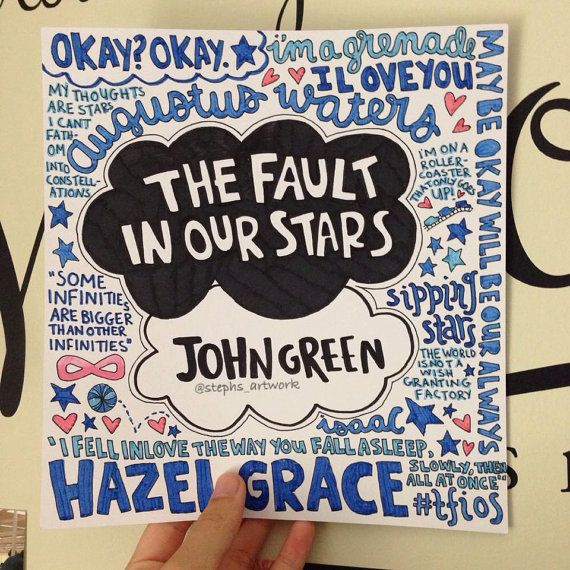 Drawn quote fault in our star Our Paper Fault Pinterest Good