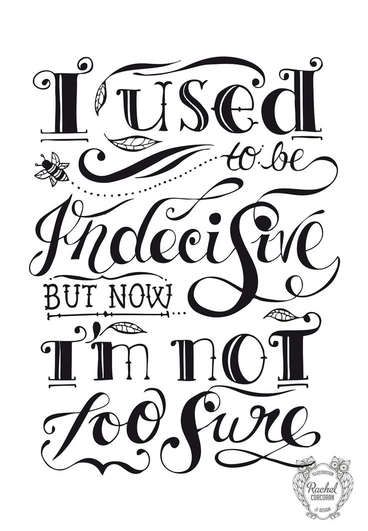 Iron Maiden clipart Typography Quote INDECISIVE 144 Illustration