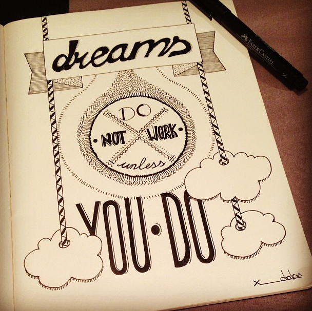 Drawn quote hand lettered Sketchbook Illustration Sweet Typography Hand