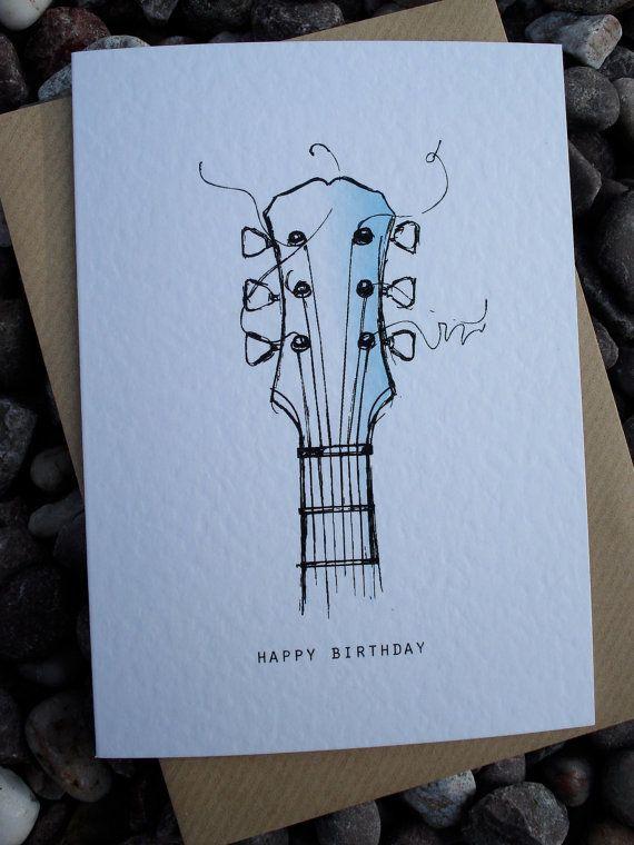 Drawn guitar paper Pinterest Best GUITAR Birthday on