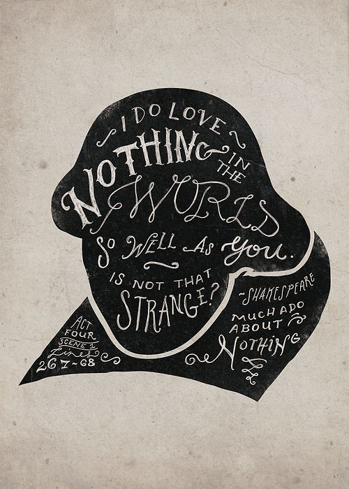 Drawn quoth much ado about nothing Nothing Verses this about more