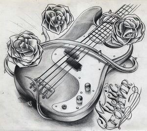 Drawn quoth music Pinterest drawing on Guitar Guitar
