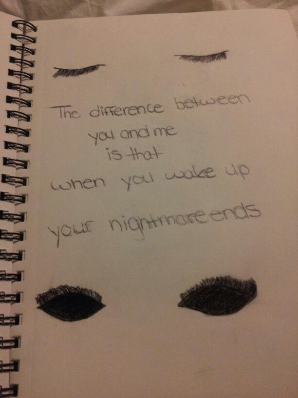 Drawn quote drawing  ideas Pinterest Sad drawings