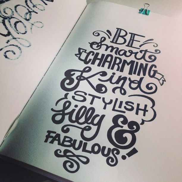 Drawn quoth smart About Lettering with Daily King