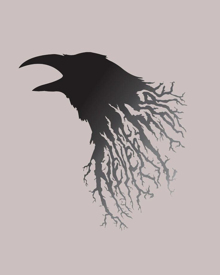 Drawn raven creepy 20+ Raven play design Raven