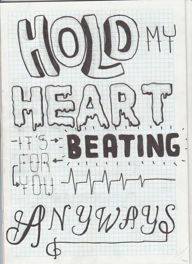 Drawn quoth song lyric Snow  Posts on Typography