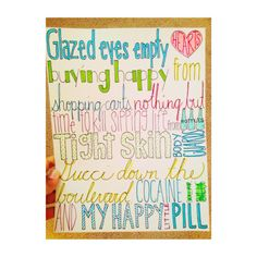 Drawn quoth song lyric Drawing Troye Typograpphy Etsy AlexiasDrawings
