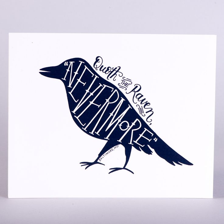 Drawn quoth special one Print the ideas Pinterest Ravens