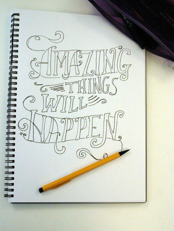 Drawn quote typography Via Pinterest best Drawn Typography