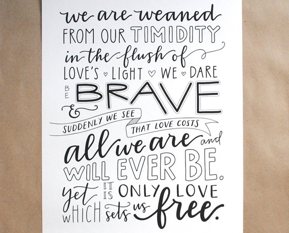 Drawn quoth typography Love Sets Hand Free Angelou