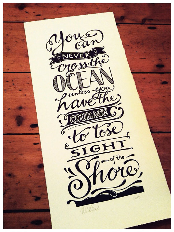 Drawn quote typography art Hand POSTERS Hand favourite original