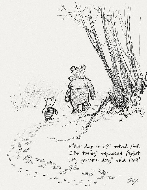 Drawn quote winnie the pooh Inspirational quote  Winnie the