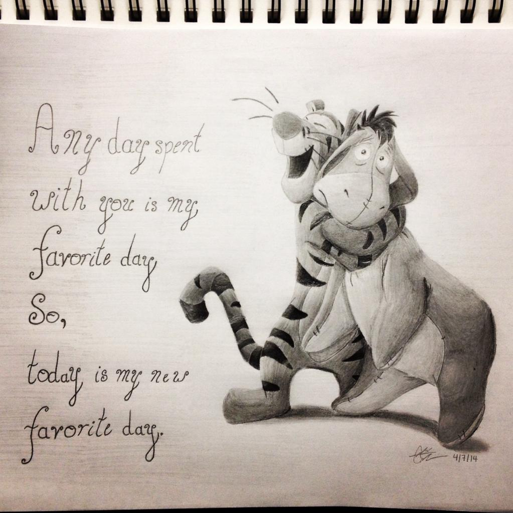 Drawn quote winnie the pooh And Eeyore wife for the