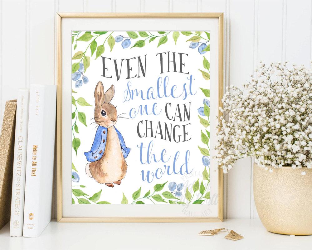 Drawn rabbid baby peter Rabbit Baby Nursery print Prints