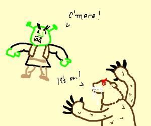 Drawn rabbid bear Igornardi) Shrek Bear Rabid Rabid