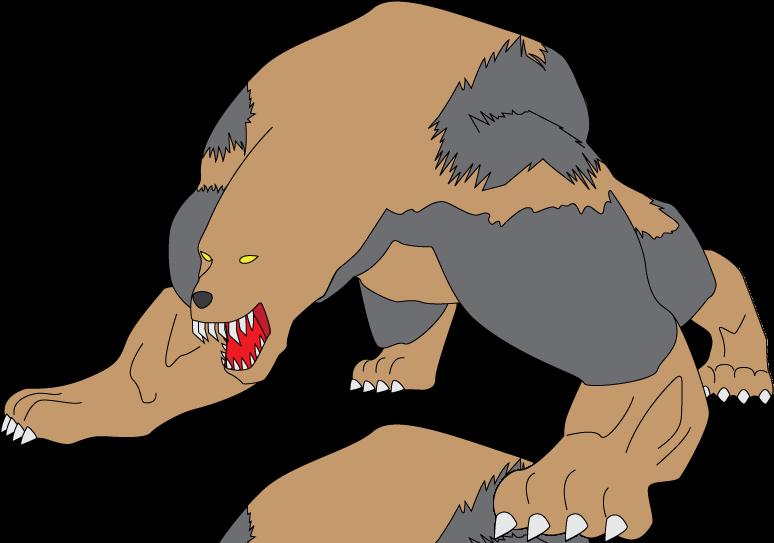 Drawn rabbid bear On Ryukyo06 Rabid 049 Monster