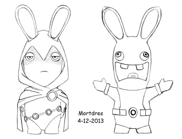 Drawn rabbid black and white 0 replies like 1 Twitter