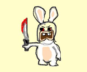 Drawn rabbid bunny tail Easter Merry knife a (rabbit)