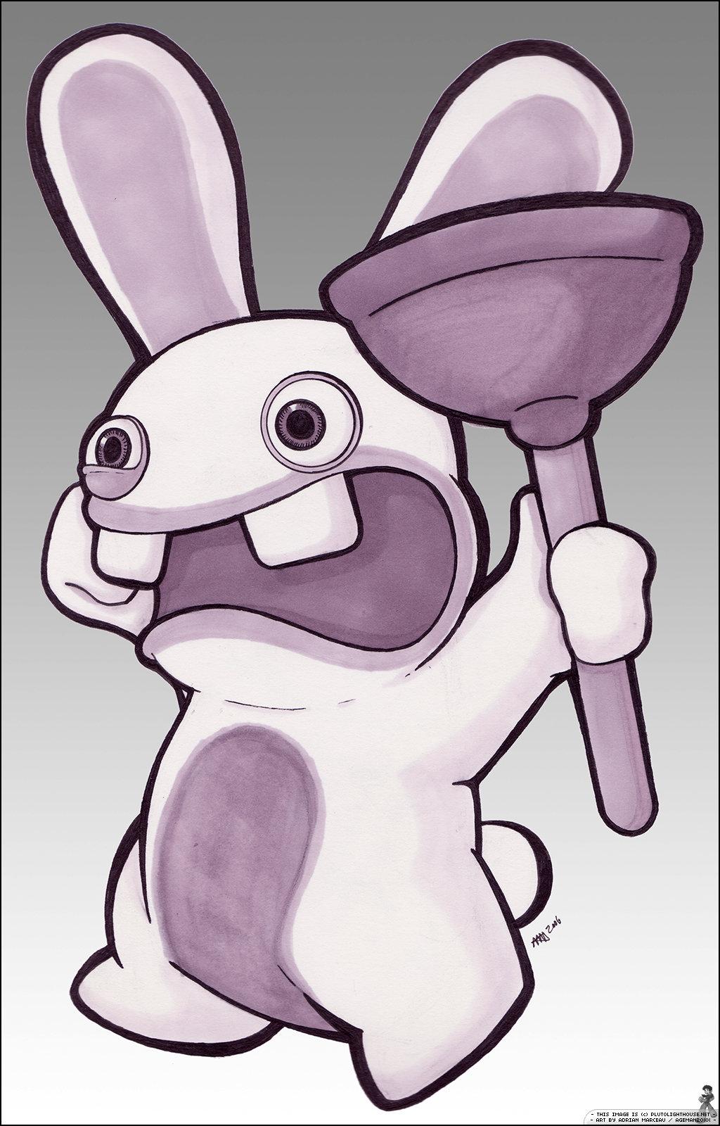 Drawn rabbid bunny tail By Rayman Ageman20XX by Rabbids