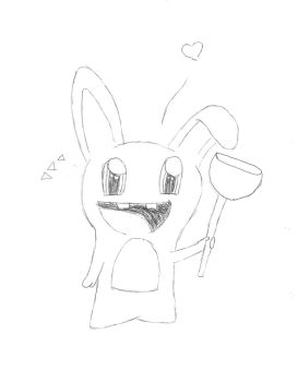 Drawn rabbid chibi Rabbid by blahblahboogy Raving Chibi