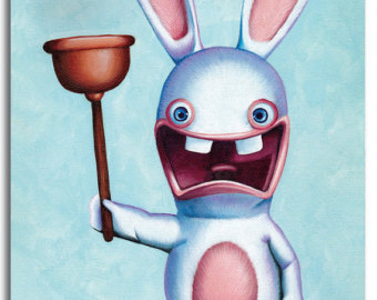 Drawn rabbid children's Rabbids Rabbid Alicia by print