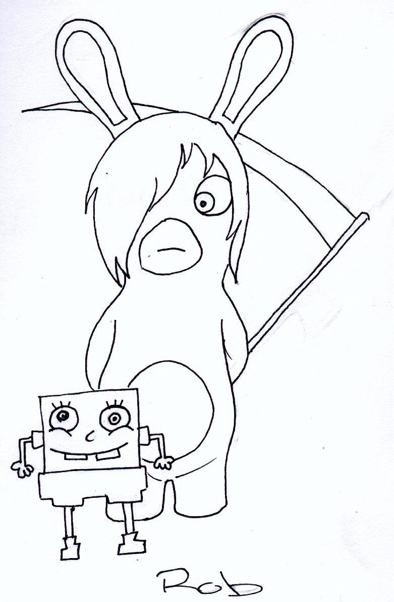 Drawn rabbid coloring page  Pages Page  Pages