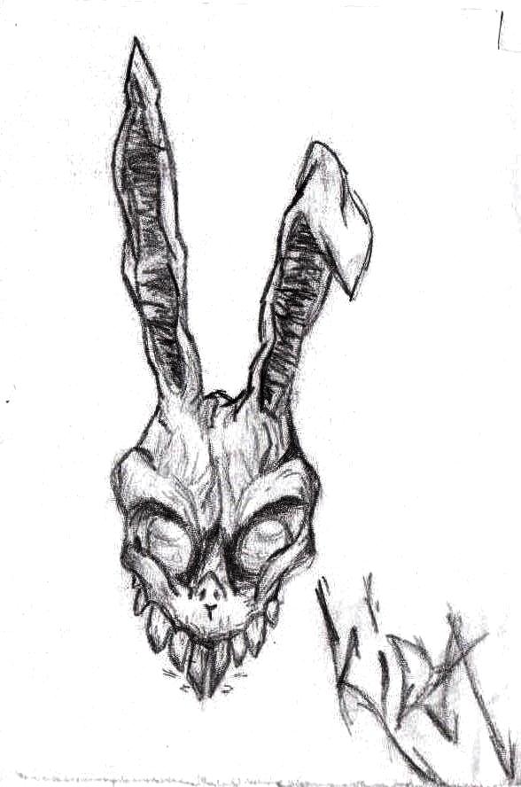 Drawn rabbid invasion Donnie Drawing by Darko Frank