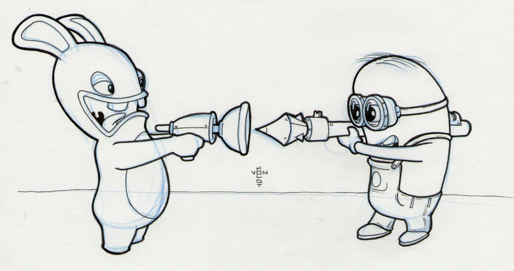 Drawn rabbid doodle Doodle Day vs Rabbids –