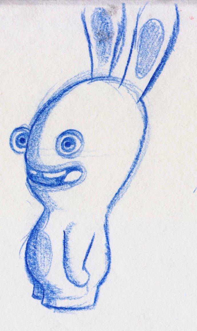 Drawn rabbid doodle ZzaJ Says DeviantArt on by