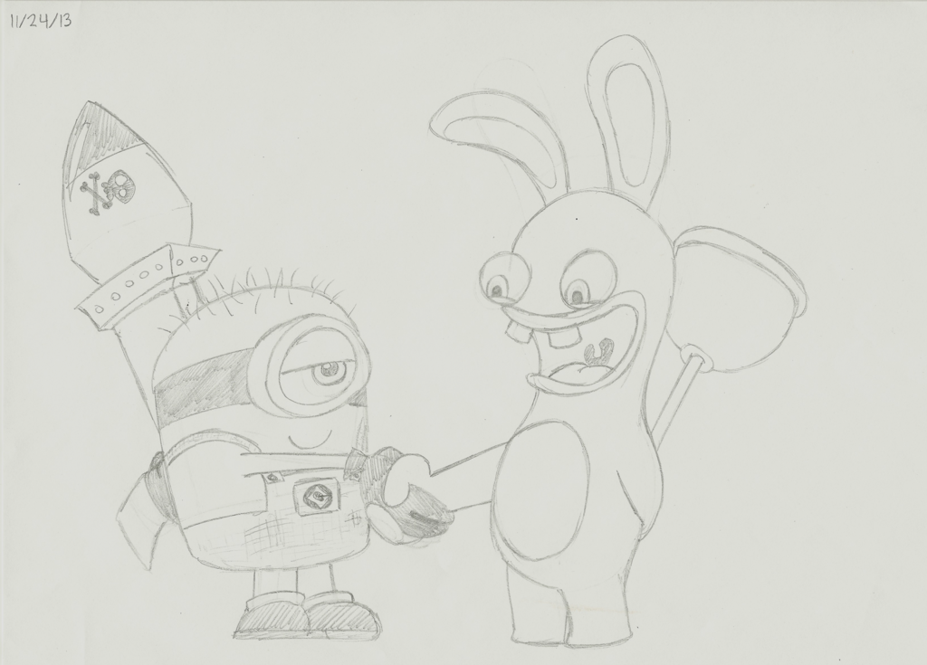 Drawn rabbid doodle Vs on meets DeviantArt by