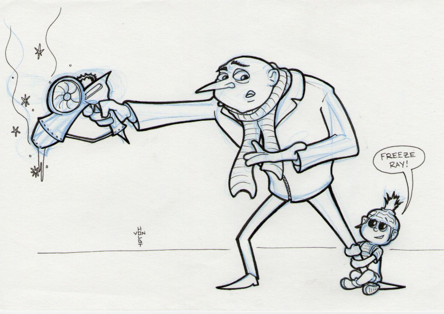 Drawn rabbid doodle A me despicable Me Day