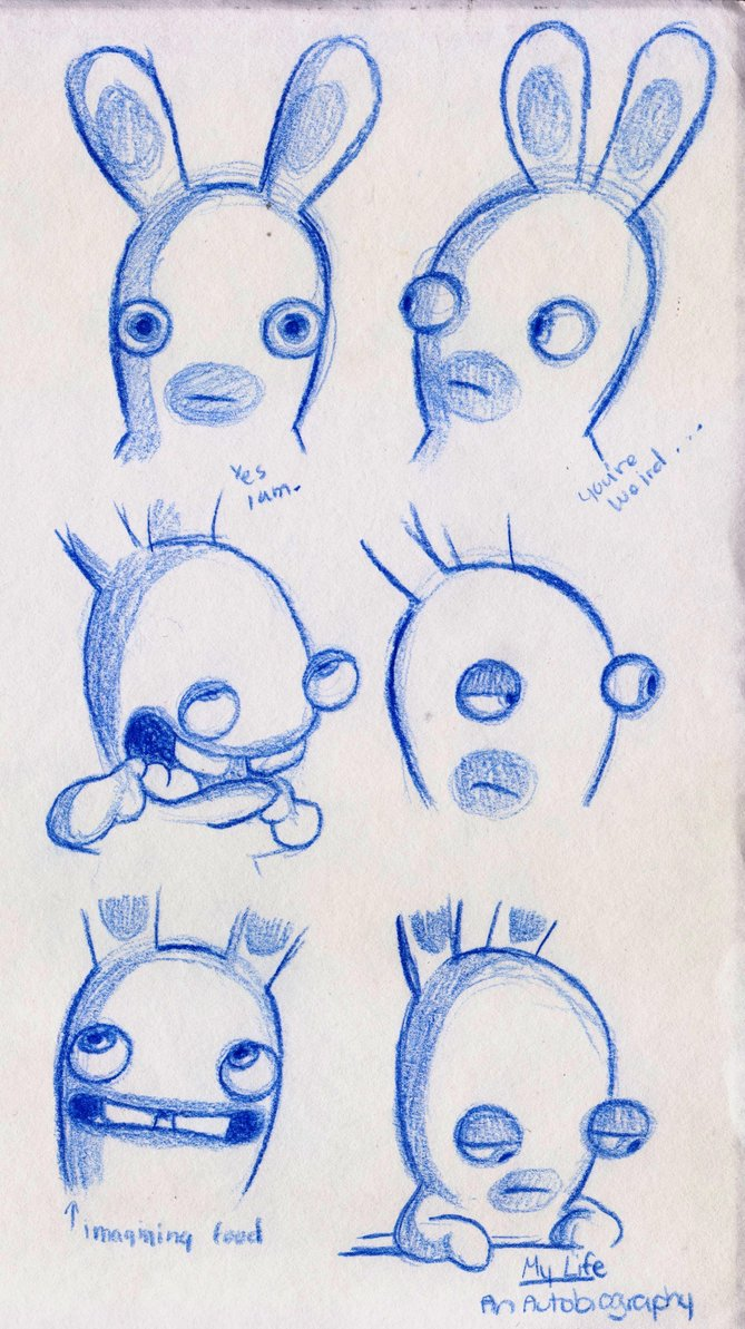Drawn rabbid doodle ZzaJ Rabbids DeviantArt on by