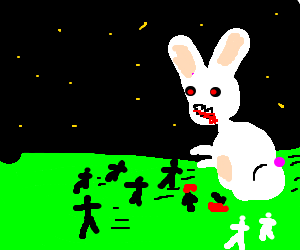 Drawn rabbid easter bunny Easter a motard black large