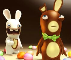 Drawn rabbid easter bunny Rabbids Stuff Rugby From Ubisoft