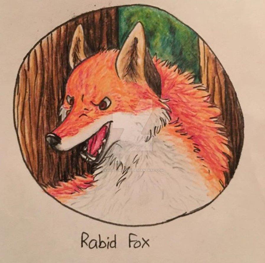 Drawn rabbid fox K9Apocalypse Fox by by K9Apocalypse