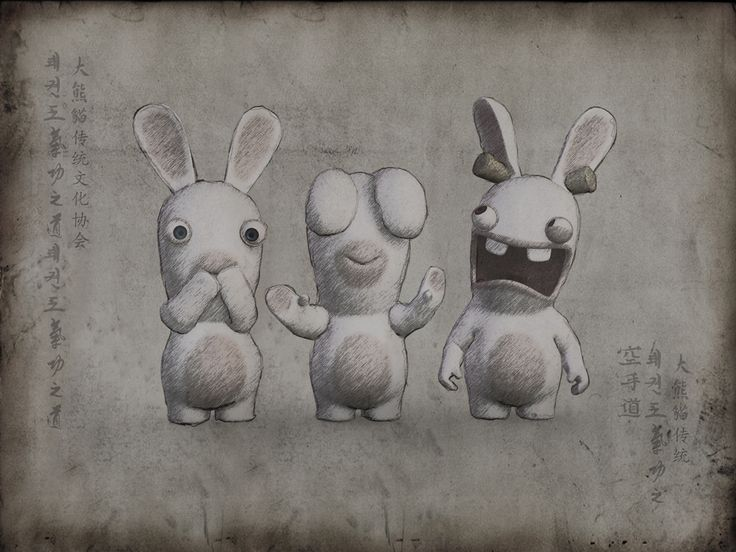 Drawn rabbid funny bunny Other 28 this crétins more